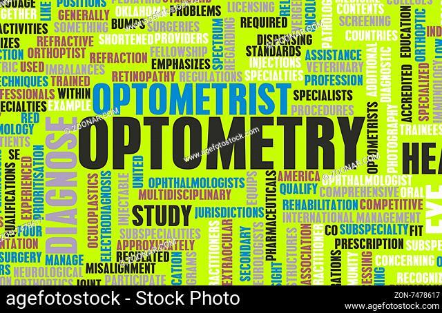 Optometry or Optometrist Medical Field Specialty As Art