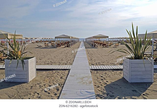 Italien, Toscana, Pietrasanta, Strand