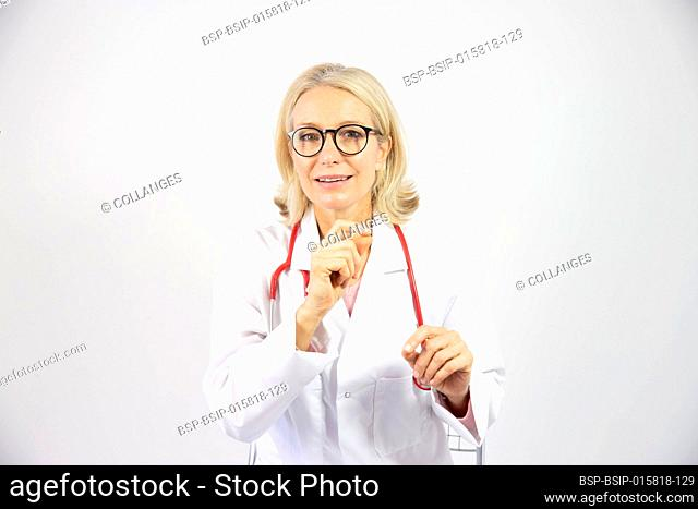 A female doctor in her fifties