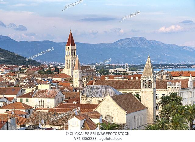 View of the old town from Karmelengo tower. Trogir, Split - Dalmatia county, Croatia