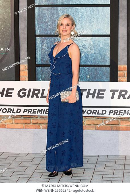 The World Premiere of 'The Girl on the Train' held at the Odeon Leicester Square - Arrivals Featuring: Joanne Clifton Where: London