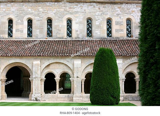 Fontenay Cistercian Abbey, Marmagne, Doubs, Burgundy, France, Europe