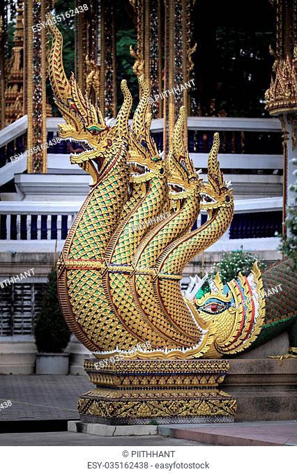 Banister of The Great Serpent at Wat Nang Sao - Samut Sakhon, Thailand