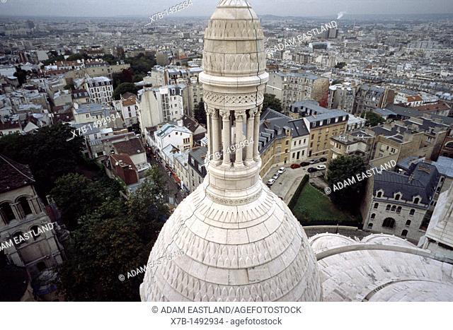 Paris  France  View of Paris from Sacre Coeur Montmartre  18th Arrondissement