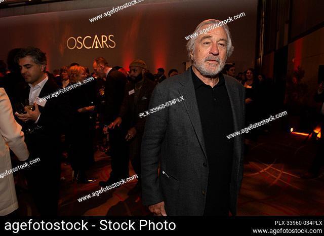 Oscar® nominee Robert DeNiro at the Oscar Nominee Luncheon held at the Ray Dolby Ballroom, Monday, January 27, 2020. The 92nd Oscars will air on Sunday