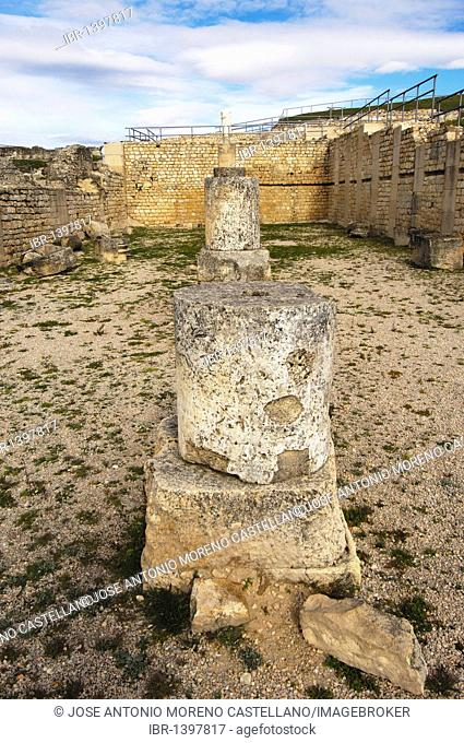 Roman city, archaeological site of Segóbriga, Saelices, Cuenca, Castilla-La Mancha, Spain, Europe