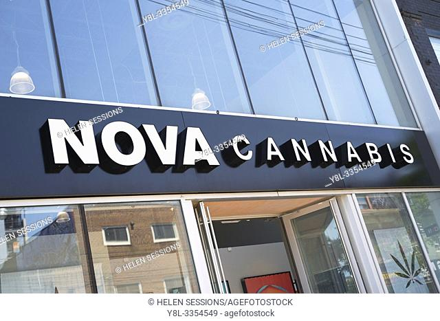 Nova Cannabis a legal Marijuana, CBD Dispensary in Toronto, Canada, Retail Store, The third legalized shop, dispensary licensed to sell Canadian Weed and...