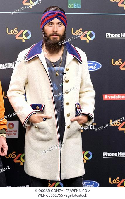 LOS 40 Music Awards at WiZink Center - Photocall Featuring: Jared Leto of Thirty Seconds to Mars Where: Madrid, Spain When: 11 Nov 2017 Credit: Oscar...
