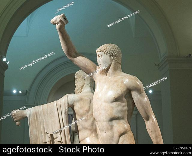 Group of the tyrannicide Harmodios and Aristogeiton, Museu Archeologico Nazionale, National Archaeological Museum, Naples, Italy, Europe