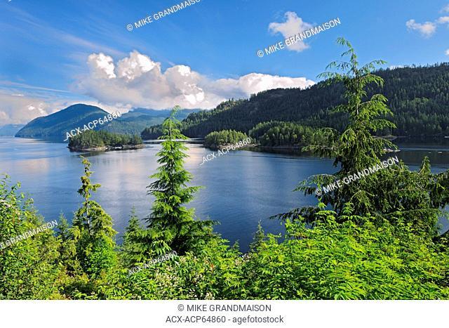 Sechelt Inlet on the Sunshine Coast, Egmont, British Columbia, Canada