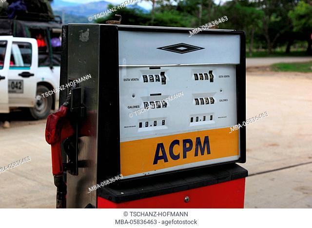 Republic Colombia, department Huila, filling station, petrol pump