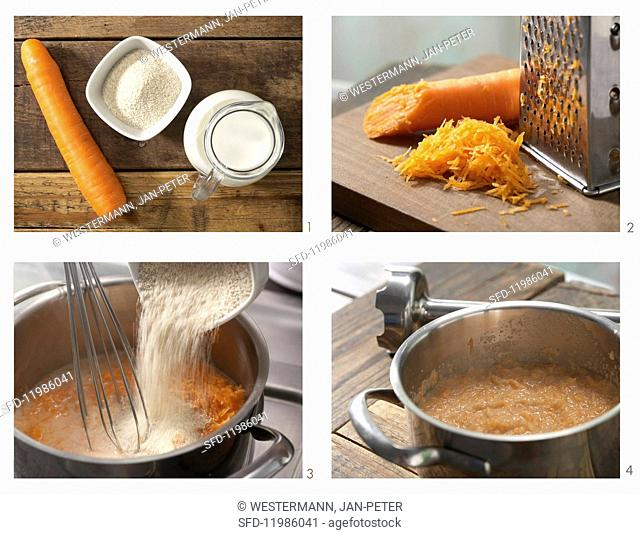 How to prepare spelt porridge with carrot