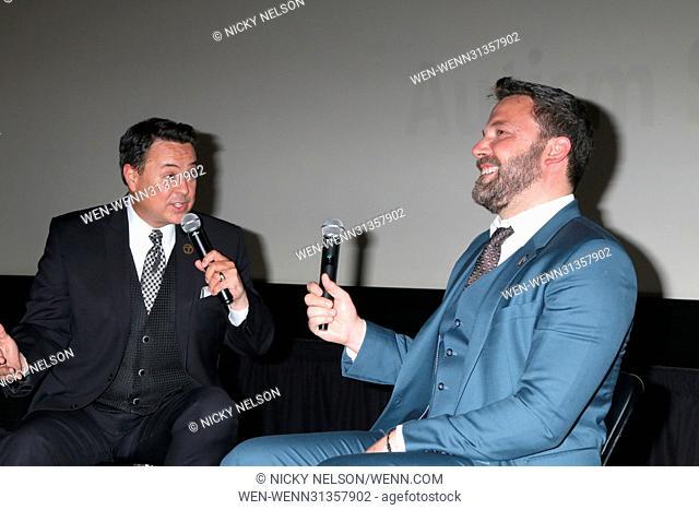 1st Annual AutFest International Film Festival at AMC Orange 30 on April 23, 2017 in Orange, CA Featuring: George Pennacchio, Ben Affleck Where: Orange