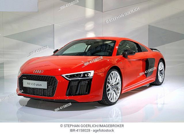 Audi R8 V10 plus, presented at a press conference at AUDI AG, Audi Forum, Ingolstadt, Bavaria, Germany
