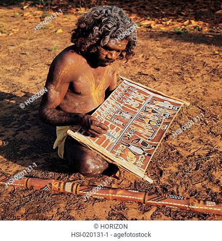 Travel, Australia, Northern Territory, Elcho Island, Aborigine, Artist
