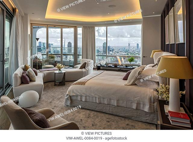 Luxury duplex penthouse with roof terraces and pool. Good views of the City of London