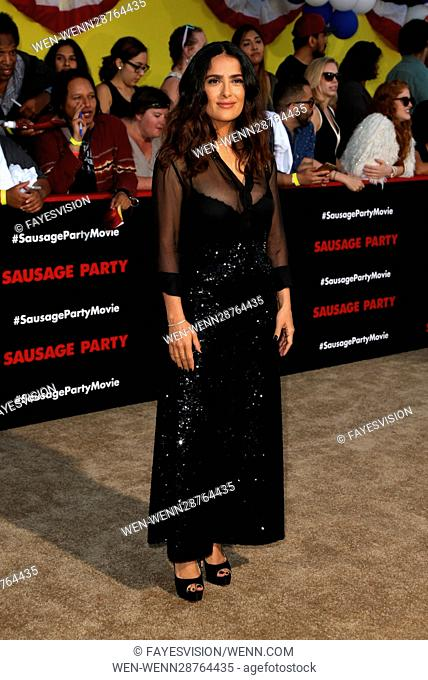 Premiere of Sony's 'Sausage Party' at Regency Village Theatre - Arrivals Featuring: Salma Hayek Where: Westwood, California