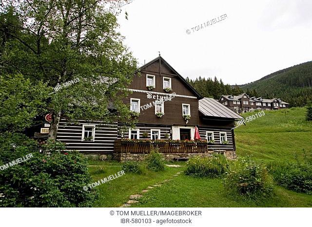 Timber building, Obrí Dul, Giant Mountains, Czechia