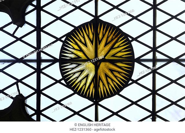 Stained glass roundel from Eltham Palace, London, 1999. The Great Hall of Eltham Palace survives from the royal palace built for Edward IV in the 1470s