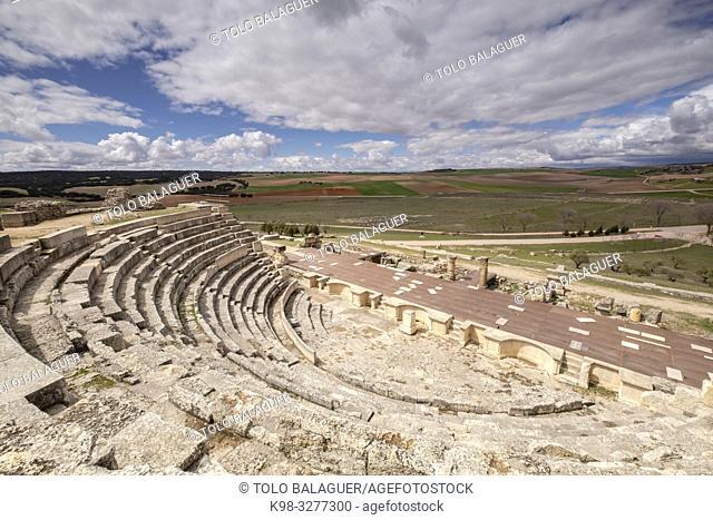 Teatro romano, parque arqueológico de Segóbriga, Saelices, Cuenca, Castilla-La Mancha, Spain