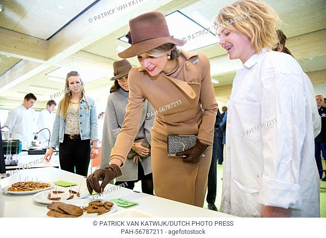 Queen Maxima of The Netherlands (L) visiting Samso Island, Denmark, 18 March 2015. The royal couples visit Energy Academy