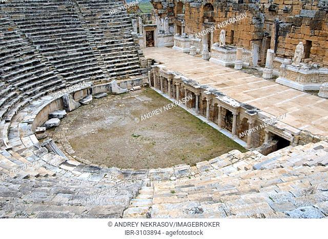 Theatre, antique city of Hierapolis, Pamukkale, Turkey