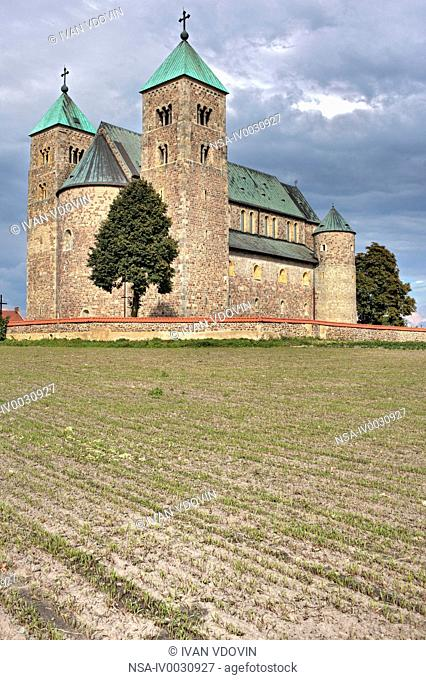 Romanesque collegiate church 1160s, Tum, Lodz Voivodeship, Poland