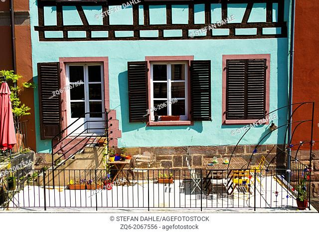 Facade of a Half Timber House in La Petite France in Strasbourg, Alsace, France