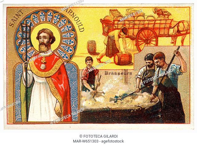 Sant'ARNOLFO, santo patrono dei mastri birrai. Con questa figura sono identificati sia Arnolfo di Metz (582 - 641) che Arnolfo di Soissons (1040-1087) entrambi...