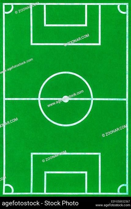 Toy football field - sport background