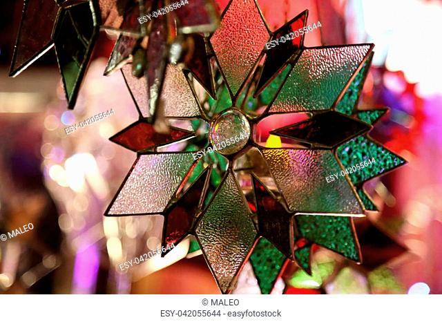 Beautiful Christmas and New Years scene / Christmas market