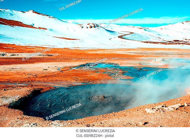 Boiling mudpots, Námafjall Hverir, Ábær, Skagafjardarsysla, Iceland