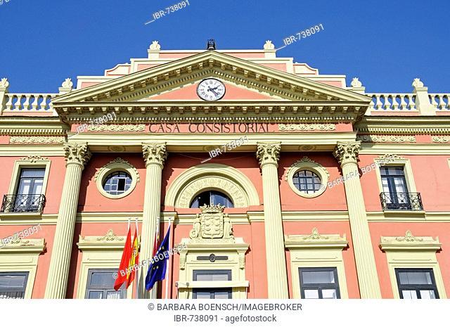 Glorieta de Espana, city hall in Murcia, Spain, Europe