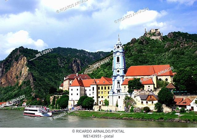 Durnstein view from the Danube