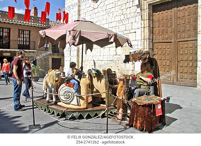 Old and Medieval Carousel at Tordesillas, Castile and Leon, Spain