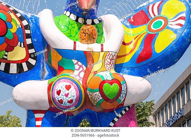 Lifesaver from Niki de Saint Phalle in Duisburg