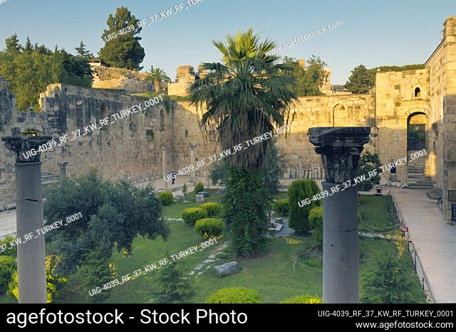 Selcuk, Izmir Province, Turkey. Courtyard of the Isa Bey Mosque, or Selim Mosque