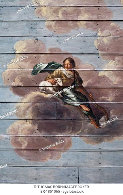 Ceiling painting by Barthold Conrath, 1704, 1961 extensively restored, one of the most important Baroque paintings in Schleswig-Holstein, St
