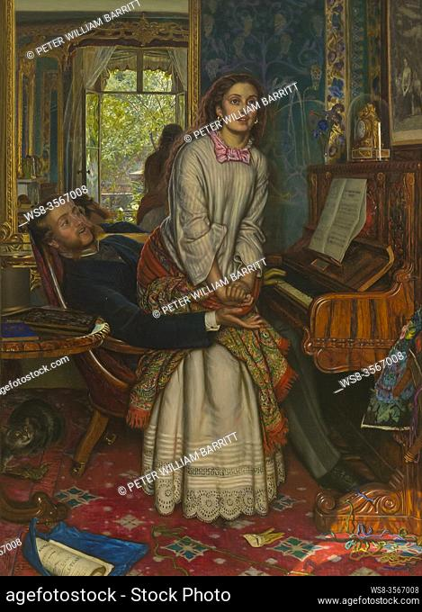 The Awakening Conscience, by William Holman Hunt, 1853,