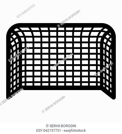 Soccer gate Football gate Handball gate Concept score icon black color vector illustration flat style simple image