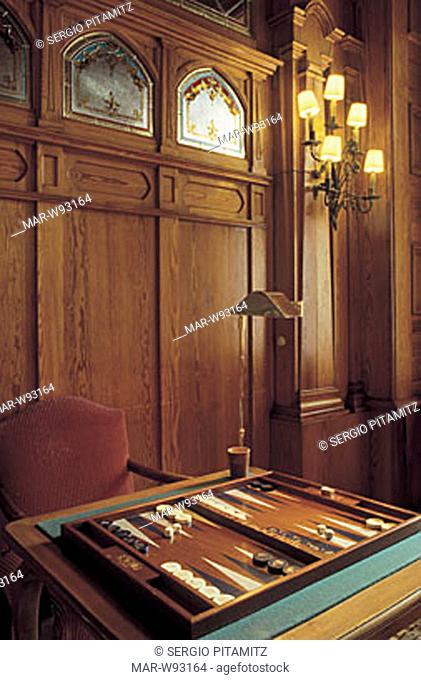 backgammon, hotel badrutt's palace, saint moritz, switzerlan