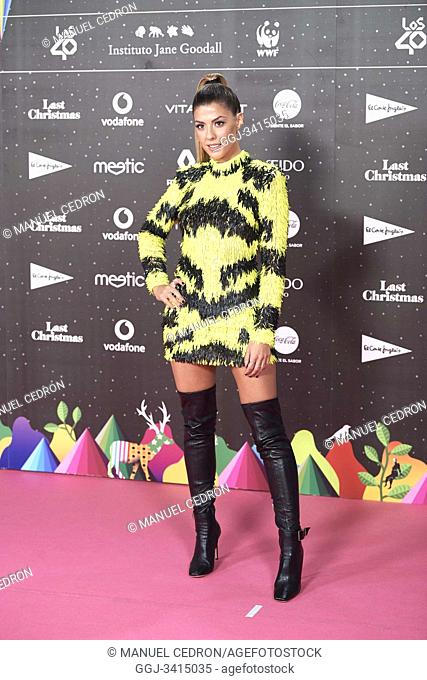 Miriam attends Los 40 Music Awards at Wizink Center on November 8, 2019 in Madrid, Spain