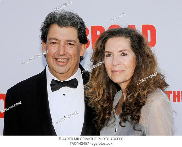 Paul Schimmel and Yvonne Schimmel attends the Broad Museum black tie inaugural dinner at The Broad on September 17th, 2015 in Los Angeles, California