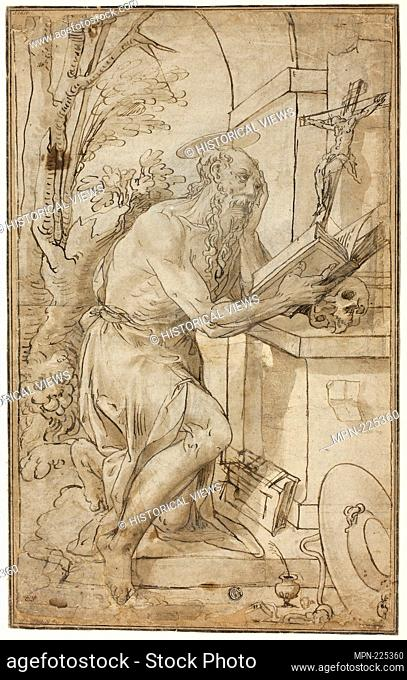 Saint Jerome in Penitence - 1575/85 - Follower of Luca Cambiaso Italian, 1527-1585 - Artist: Follower of Luca Cambiaso, Origin: Italy, Date: 1575-1585
