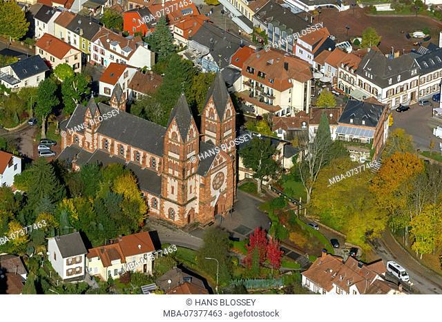 Parish church Sankt Lutwinus, Mettlach, Saarland, Saarland, Germany, Europe