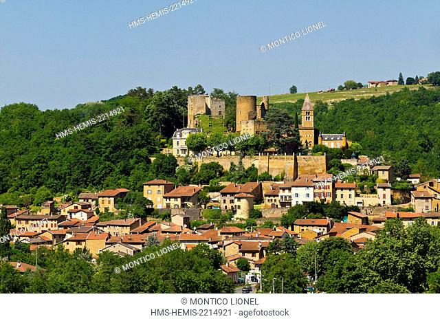 France, Rhone, Beaujolais region, Gilded Stones area, village of Chatillon d'Azergues