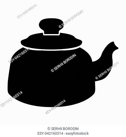 Teapot it is black color icon