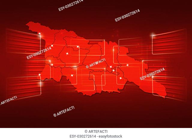 Georgia Map World map News Communication delivery red
