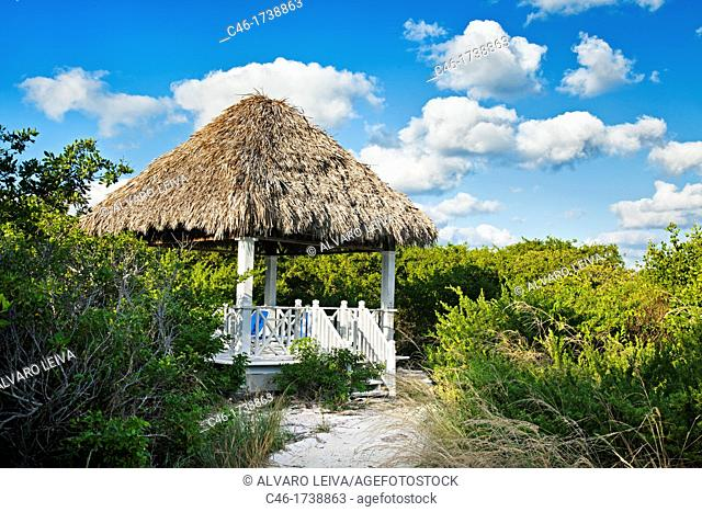 Kiosk, Hotel Occidental Royal Hideaway Ensenachos, Cayo Ensenachos, near Cayo Santa Maria, Cayerias del Norte, Cuba