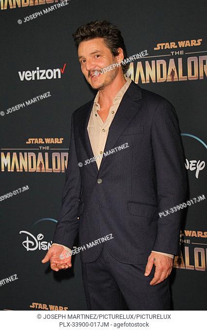"Pablo Pascal at """"The Mandalorian"""" Premiere held at El Capitan Theatre in Hollywood, CA, November 13, 2019. Photo Credit: Joseph Martinez / PictureLux"